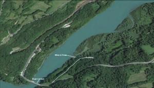 Pont Carnot : Mise à l'eau
