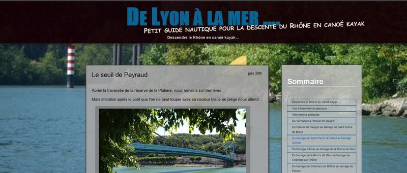 Guide de navigation en canoé kayak sur le Rhône de Lyon à la mer.