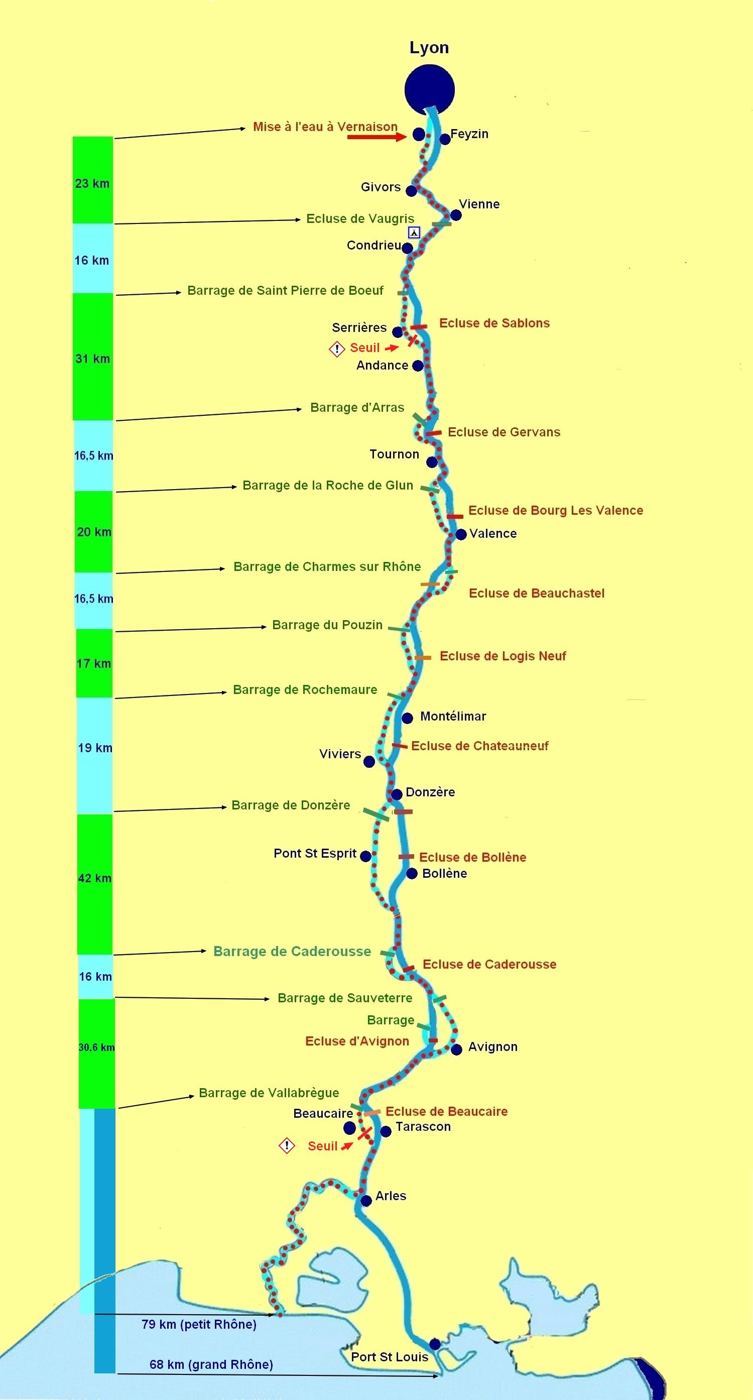 Le parcours de Vernaison à la mer
